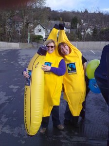 Steering Committee members are often seen around town dressed as bananas