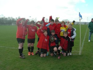 Last years winning team. Tansley Primary