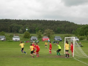 St Giles defend a corner from St Josephs A