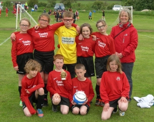Winners of the Fairtrade Fairplay trophy Tansley